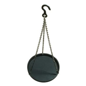 SCALE PAN PLASTIC WITH CHAIN & HOOK 75mmD