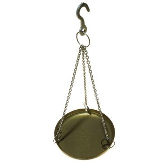 SCALE PAN BRASS WITH CORD & HOOK 75mmD