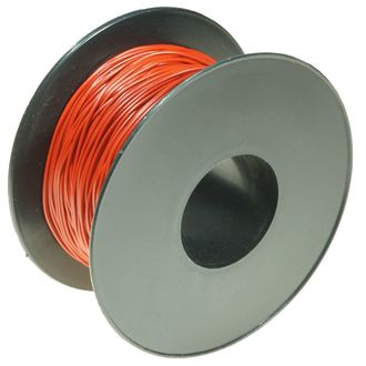 WIRE COPPER BELL WIRE RED 1x0.5mm 100m