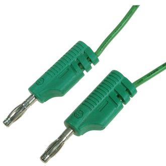 CABLE 300mm 4mm BANANA/BANANA MOULDED STACKABLE GREEN