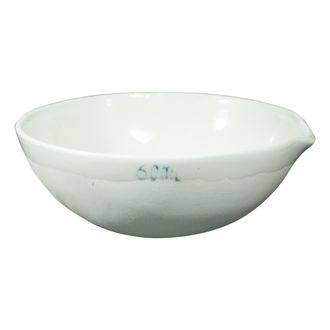 BASIN/DISH PORCELAIN ROUND BOTTOM W/SPOUT    60ML