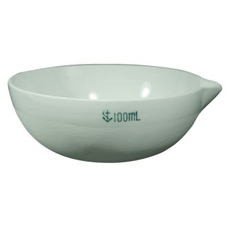 BASIN/DISH PORCELAIN ROUND BOTTOM W/SPOUT   100ML