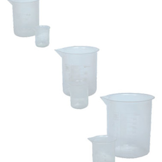 BEAKER POLYPROPYLENE GRADUATED   25ml