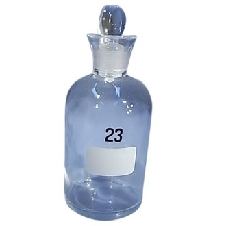 BOTTLE BOD CLEAR GLASS WITH GLASS STOPPER 300ml