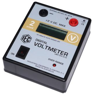 METER DIGITAL VOLTMETER LCD +/- 0-2V.DC AUTO POWER OFF