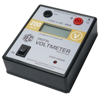 METER DIGITAL VOLTMETER LCD +/- 0-200V.DC AUTO POWER OFF