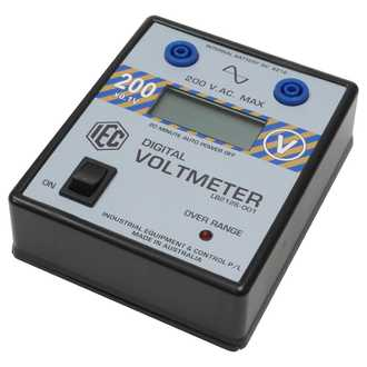 METER DIGITAL VOLTMETER LCD +/- 0-20V.AC. AUTO POWER OFF