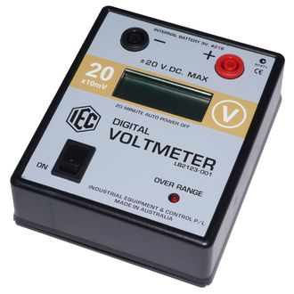 METER DIGITAL VOLTMETER LCD +/- 0-20V.DC. AUTO POWER OFF