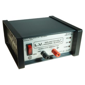 POWER SUPPLY SW 'SELECTAVOLT' 1.5/3/6V.DC. x 2A. REGULATED