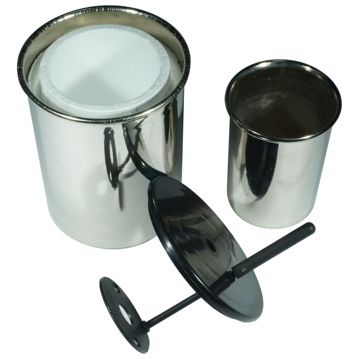 CALORIMETER CUP PAIR INNER/OUTER WITH LID & STIRRER