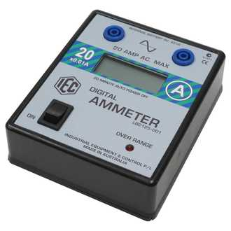 METER DIGITAL AMMETER LCD +/- 0-20A.AC AUTO POWER OFF