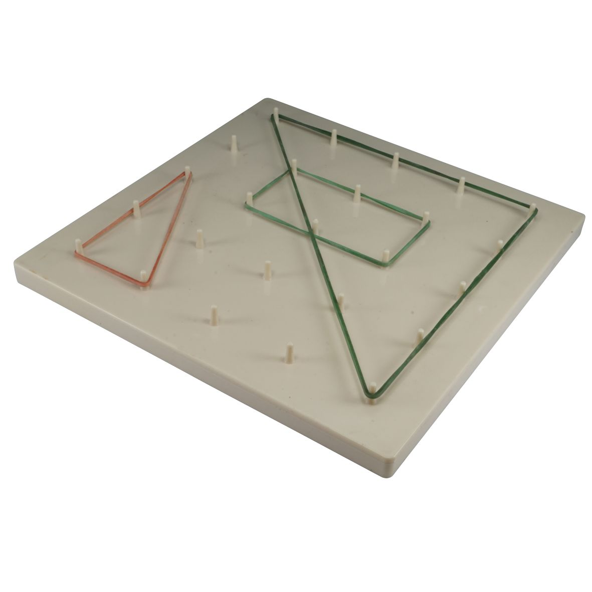 GEOBOARD STUDENT PLASTIC C/W RUBBER BANDS